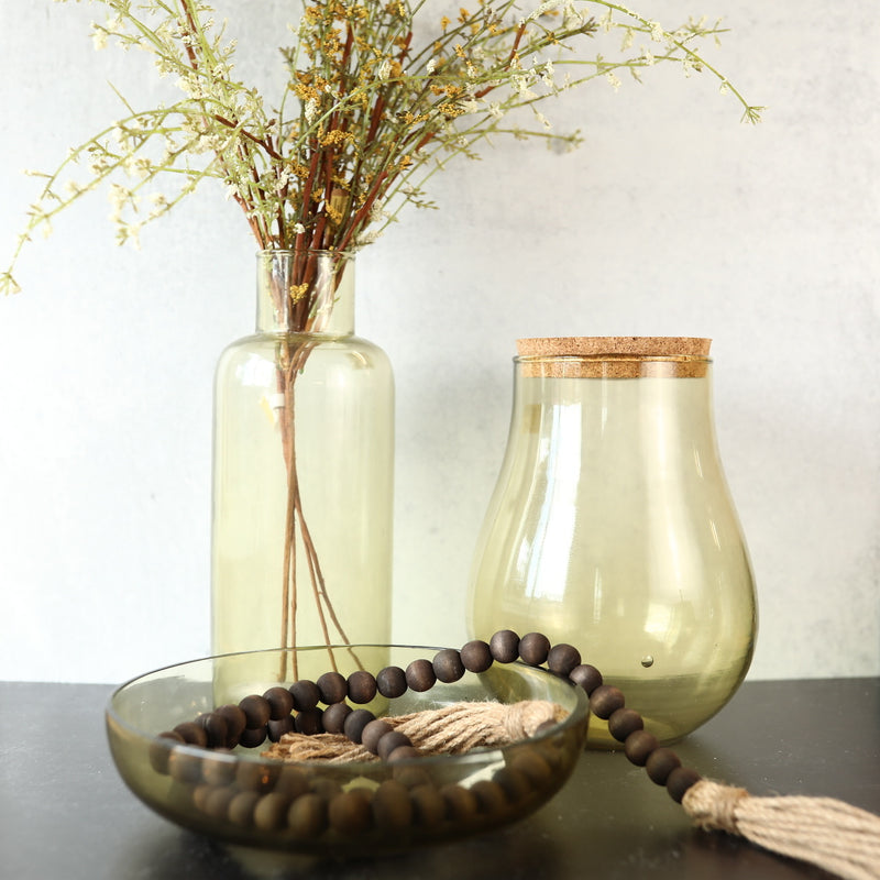 Recycled Glass Jar - Cork Lid - Small
