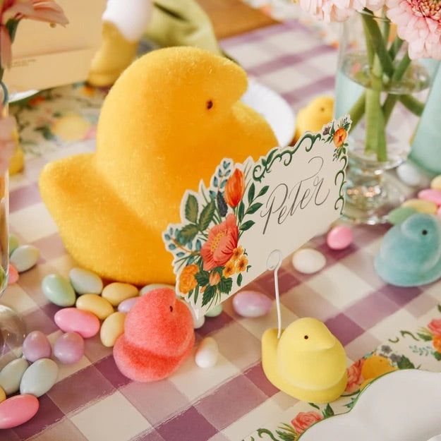 Flocked Peeps - Yellow