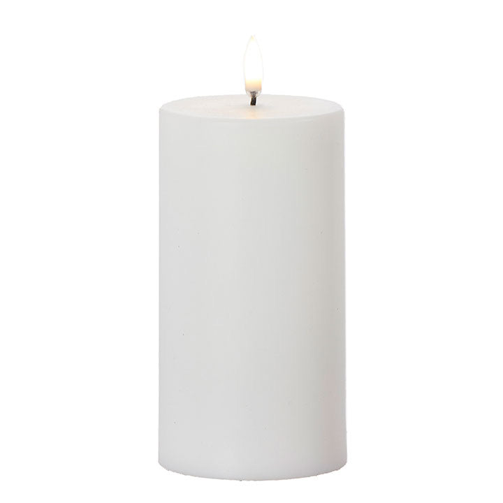 Faux Flame Pillar Candle - Medium