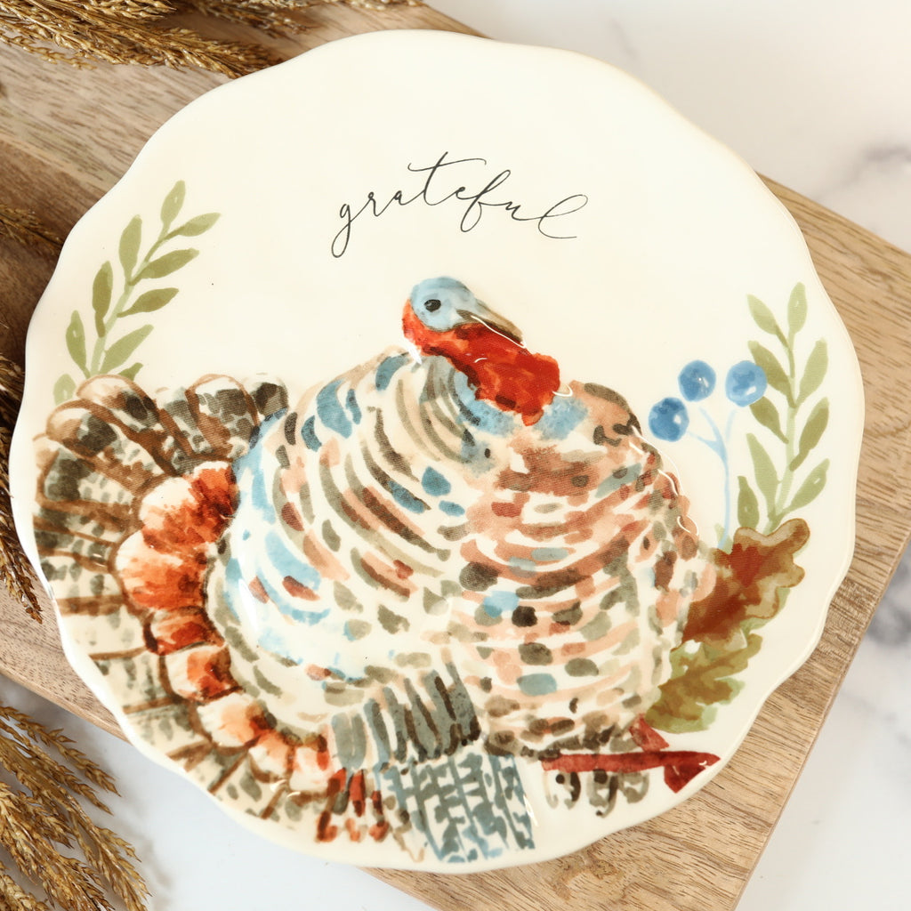 Salad Plate - Grateful Turkey