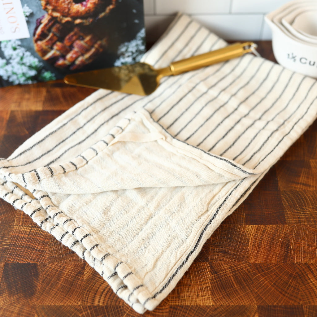Black and White Patterned Dish Towel - 2 Styles