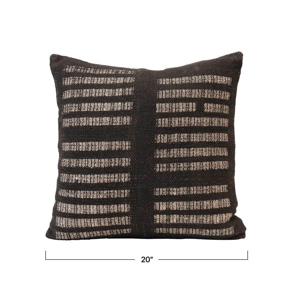 Black and White Lines PIllow