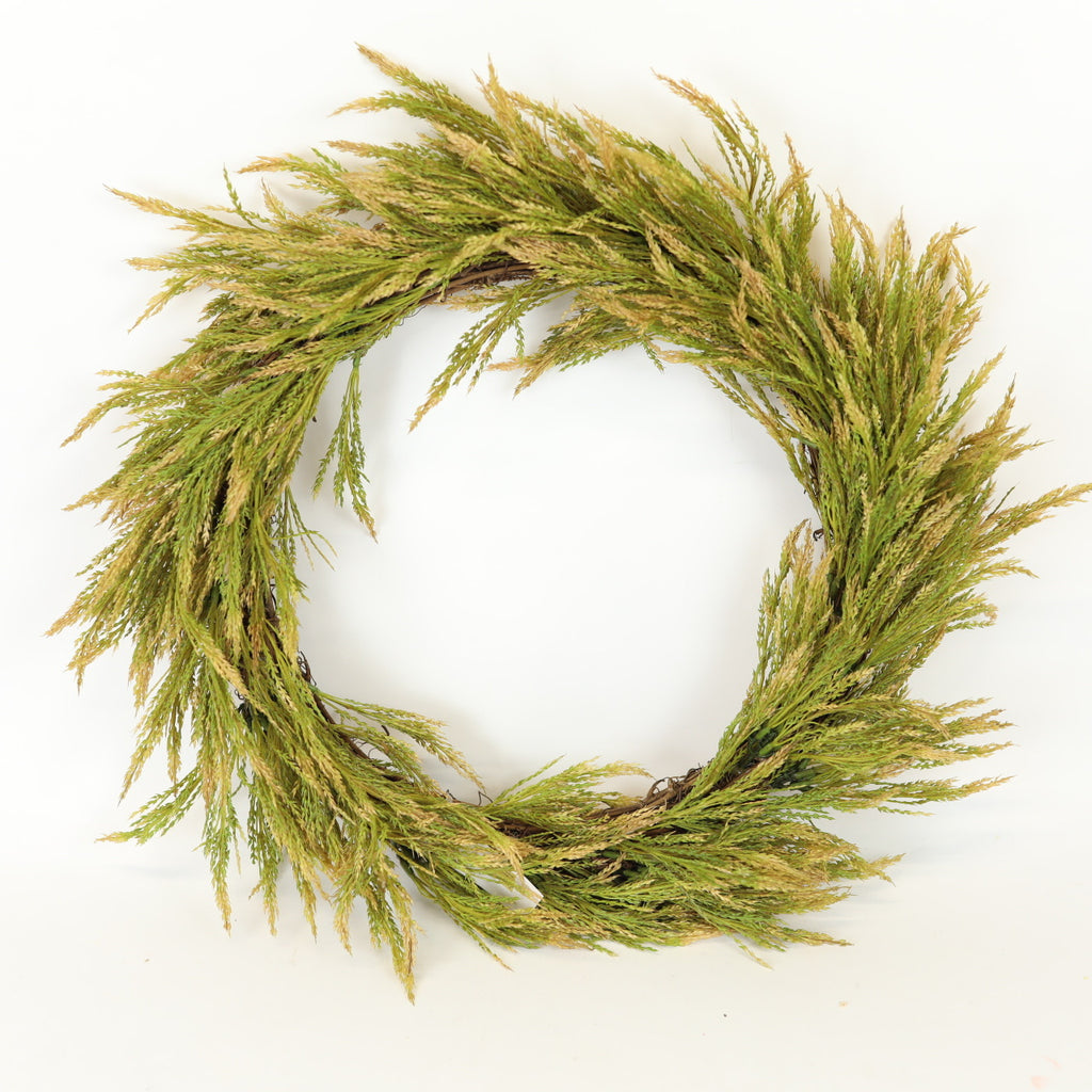 Green Wheat Wreath