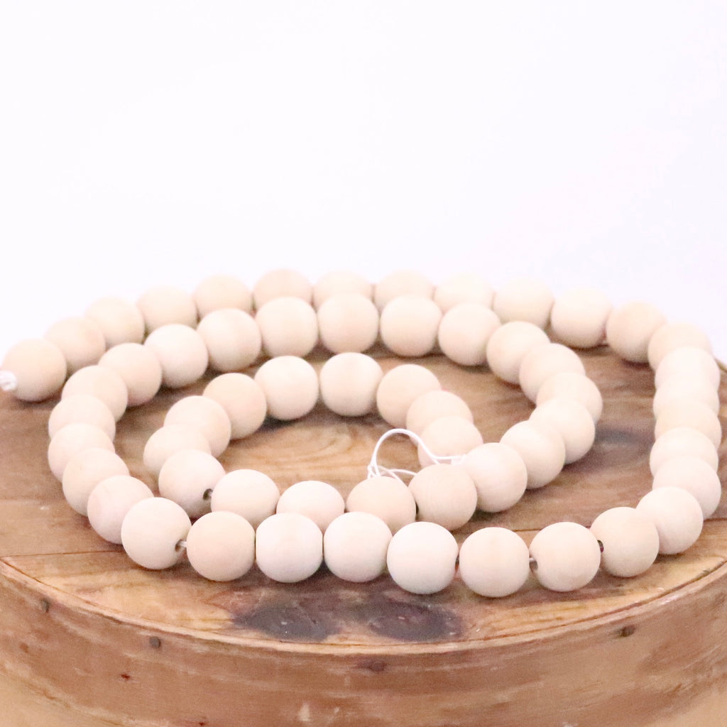 Natural Wood Bead Garland