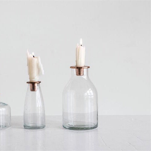 Copper Candle Holder - Tall
