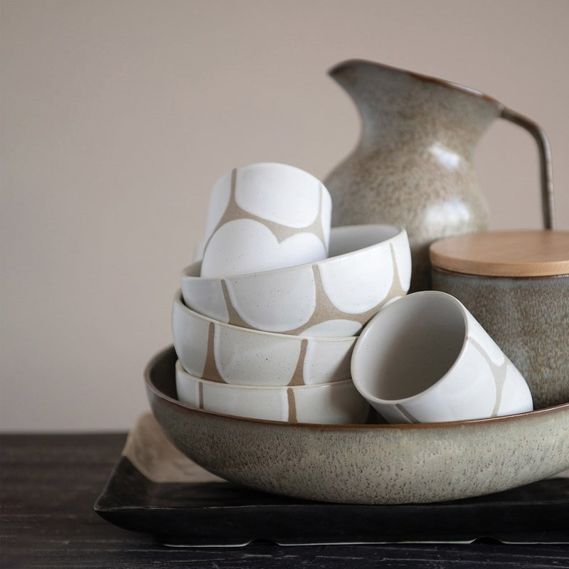Sandstone and White Bowl
