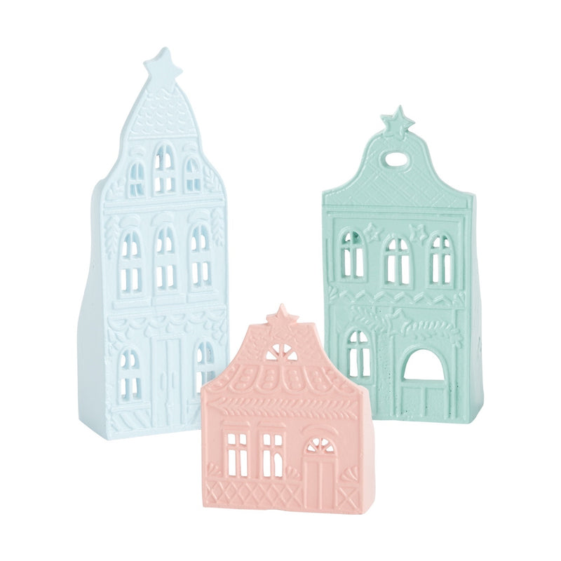 Tinsel Town Tea Light Houses