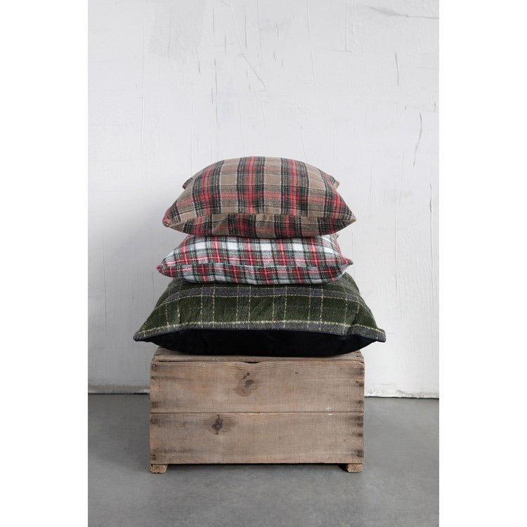 Christmas Plaid Pillow