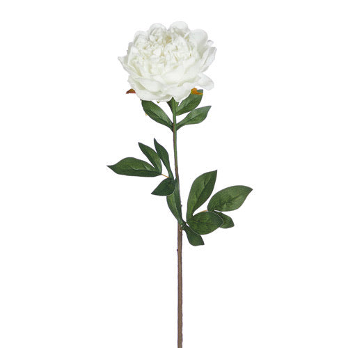 White Real Touch Peony - 27.5""