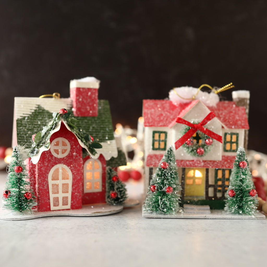Lighted House Ornament - 2 Sizes
