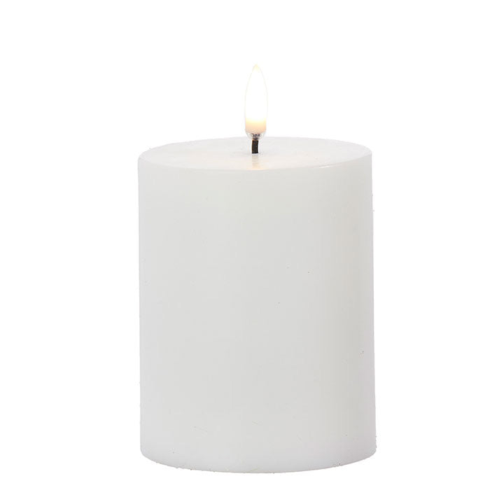 Faux Flame Pillar Candle - Small