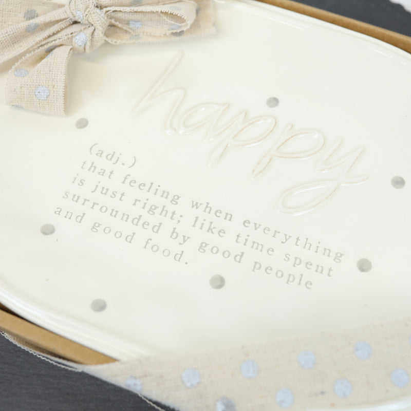 Happy Definition Plate