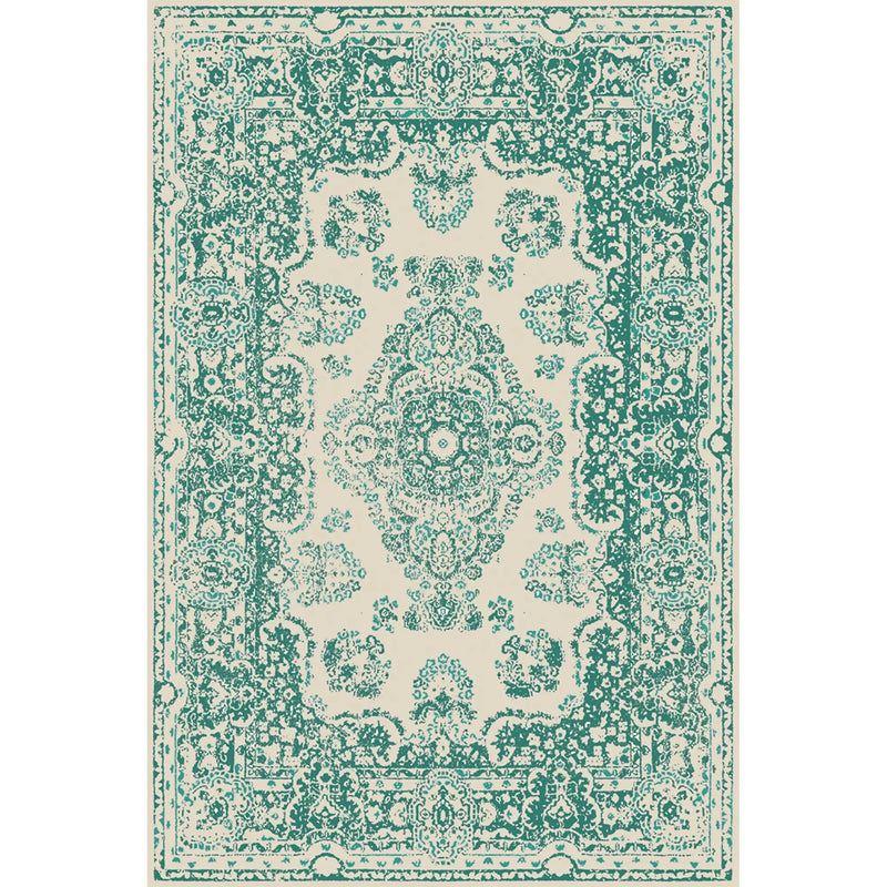 Persian Blue/Green Vinyl Rug