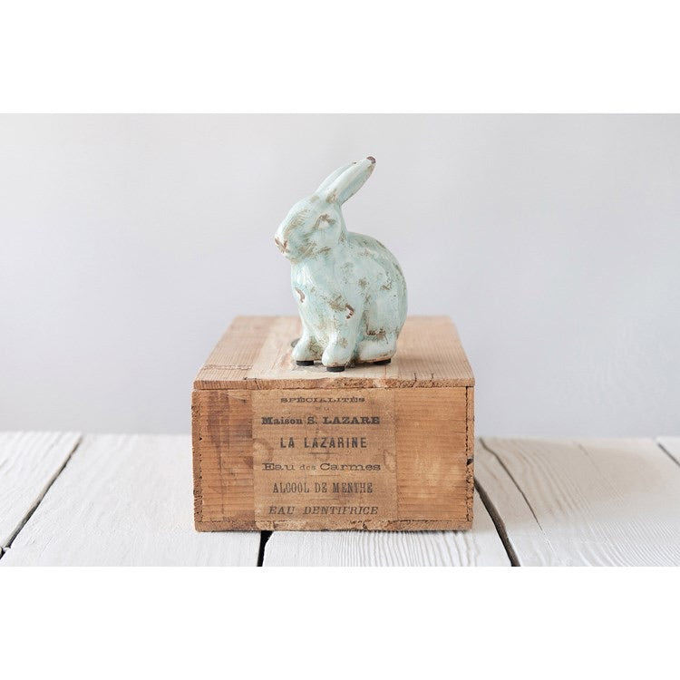 Blue Terra-Cotta Rabbit