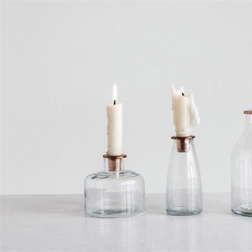 Copper Candle Holder - Short