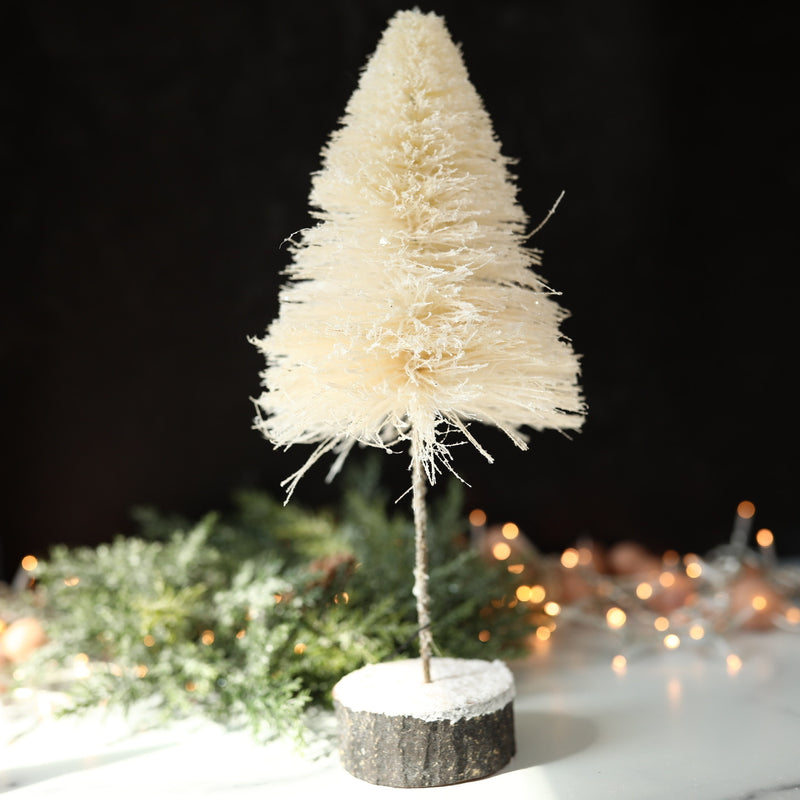 Snow Kissed Sisal Trees - 3 Sizes