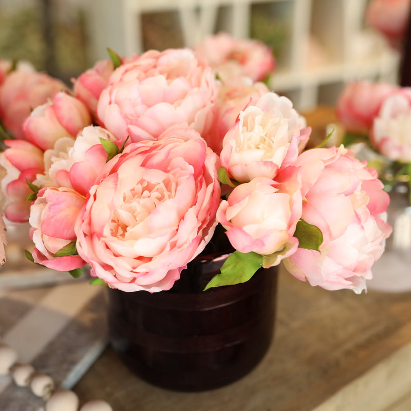 Peony Bouquet x3 - Light Pink