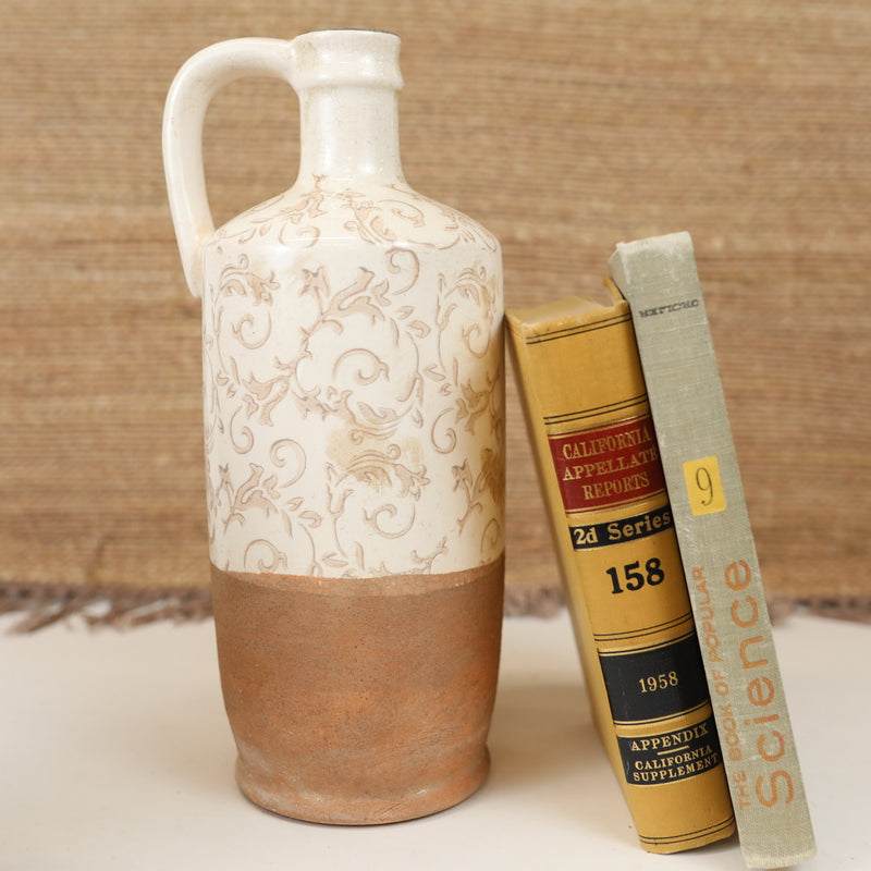 Floral Crackle Vases in Tan - 7 Styles