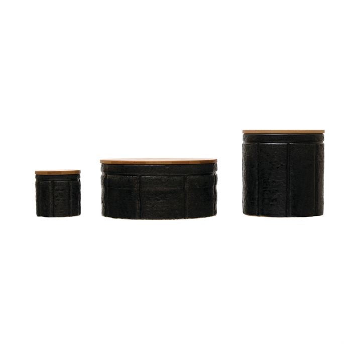 Black Reactive Glaze Canisters - 3 Sizes