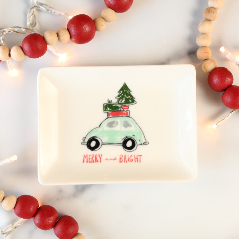 Christmas Cars Mini Dish