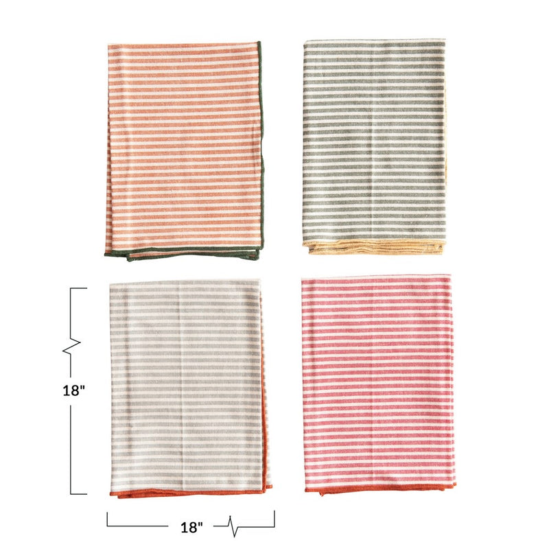 Cotton Striped Napkin Set