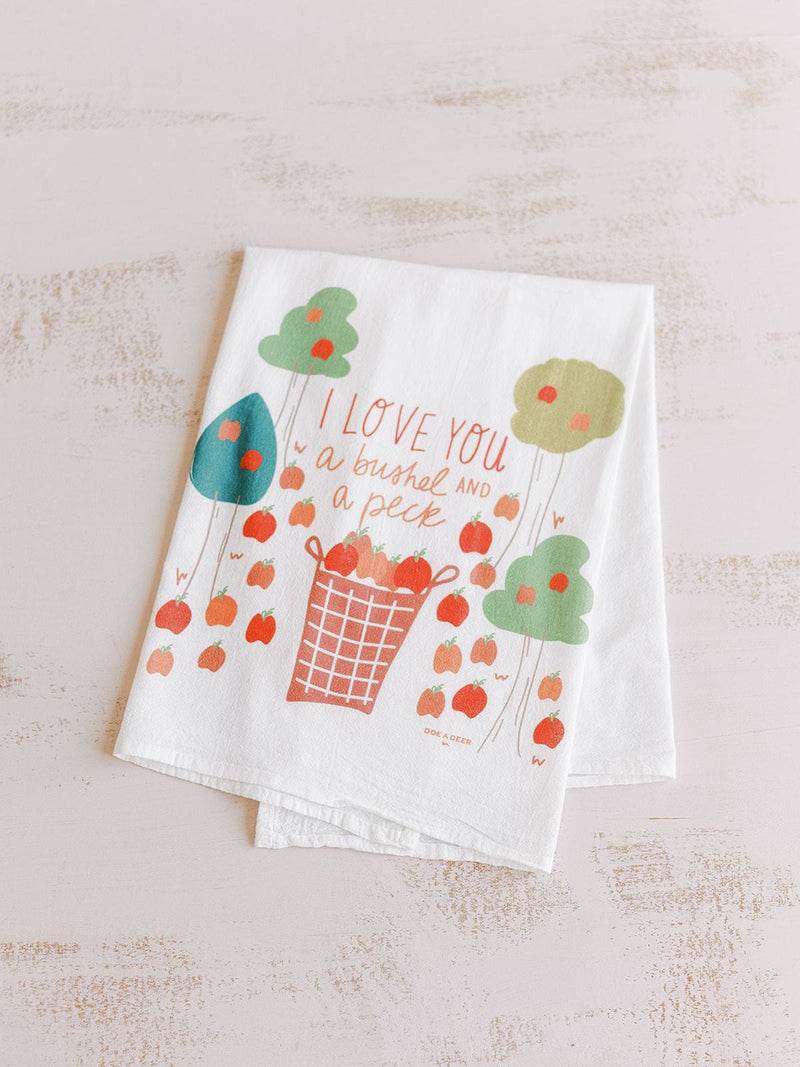 Flour Sack Towel - A Bushel and a Peck