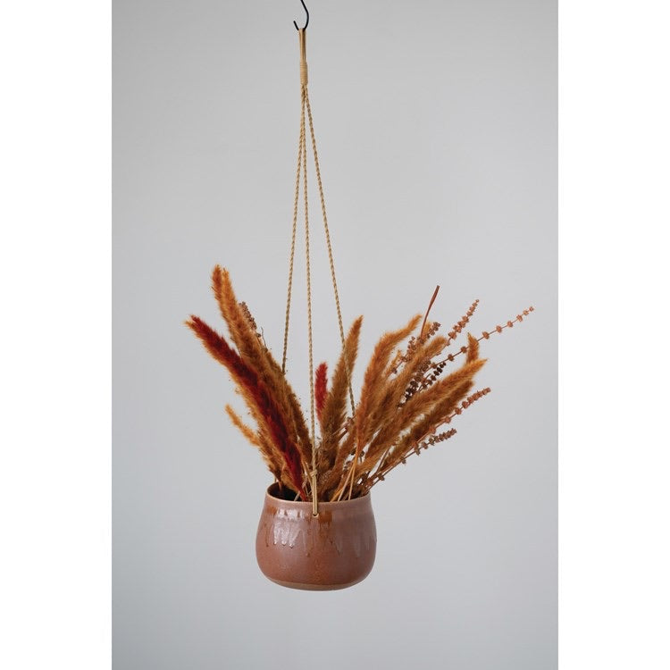 Rust Stone Hanging Pot