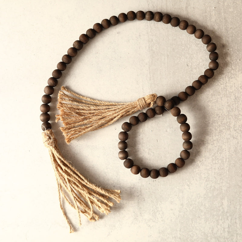 Tassel Prayer Beads - Brown