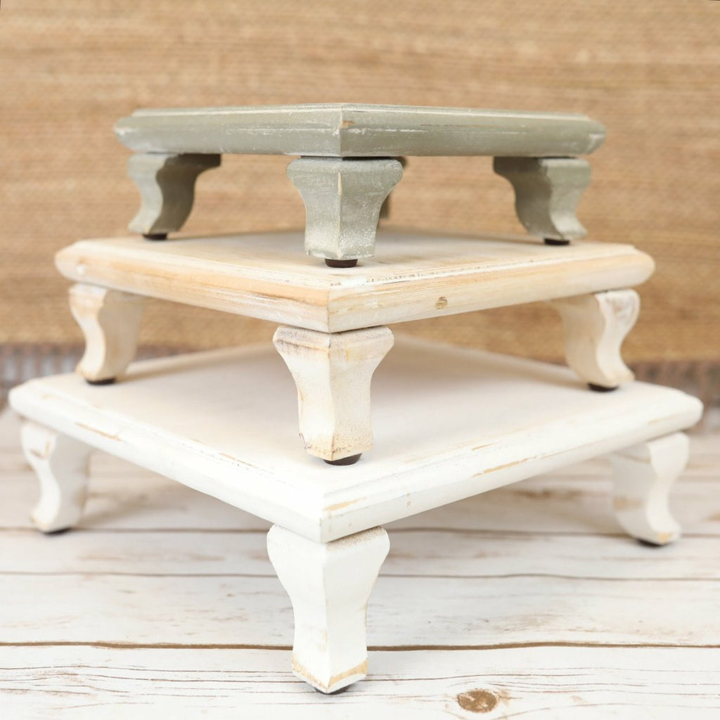 Wood Risers - 3 Colors/Sizes
