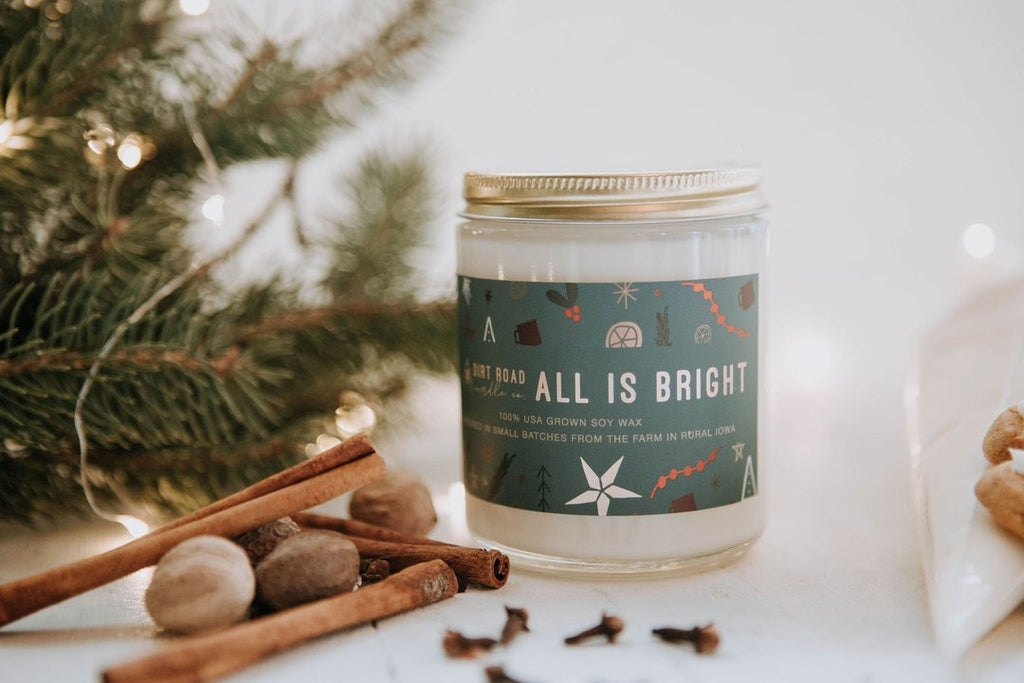 All is Bright Candle - 2 Sizes
