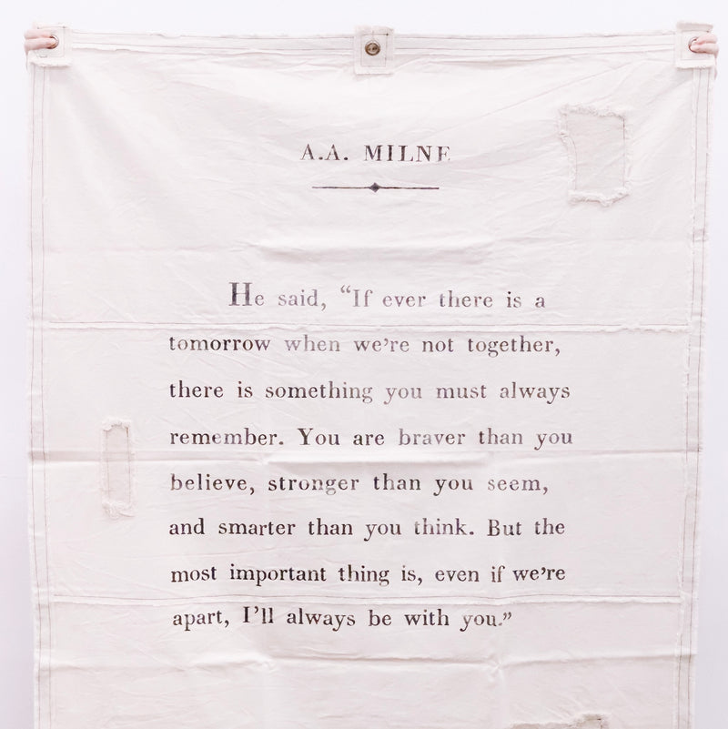 A.A. Milne Canvas Wall Hanging