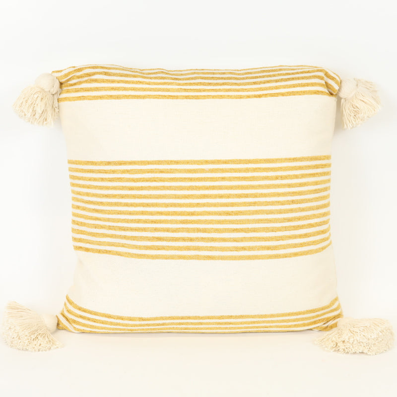 Yellow Striped Pillow