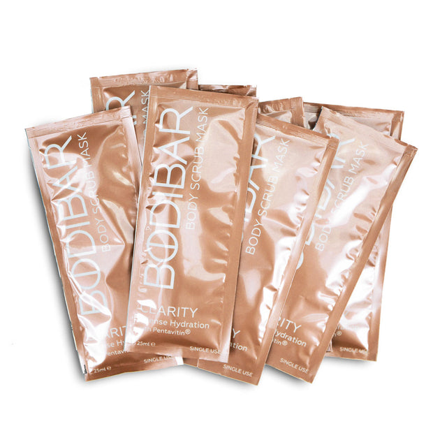 bodibar intense hydration body scrub and mud mask spa treatment 8 pack sachets