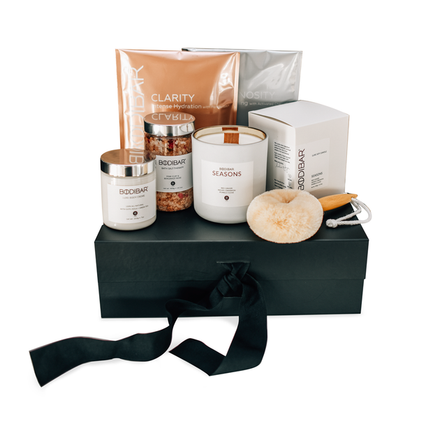 Bodibar Luxe Spa body care gift set large black christmas hamper box