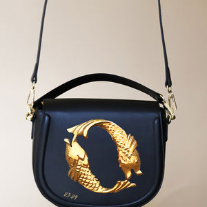 Gold Fish Black Bag