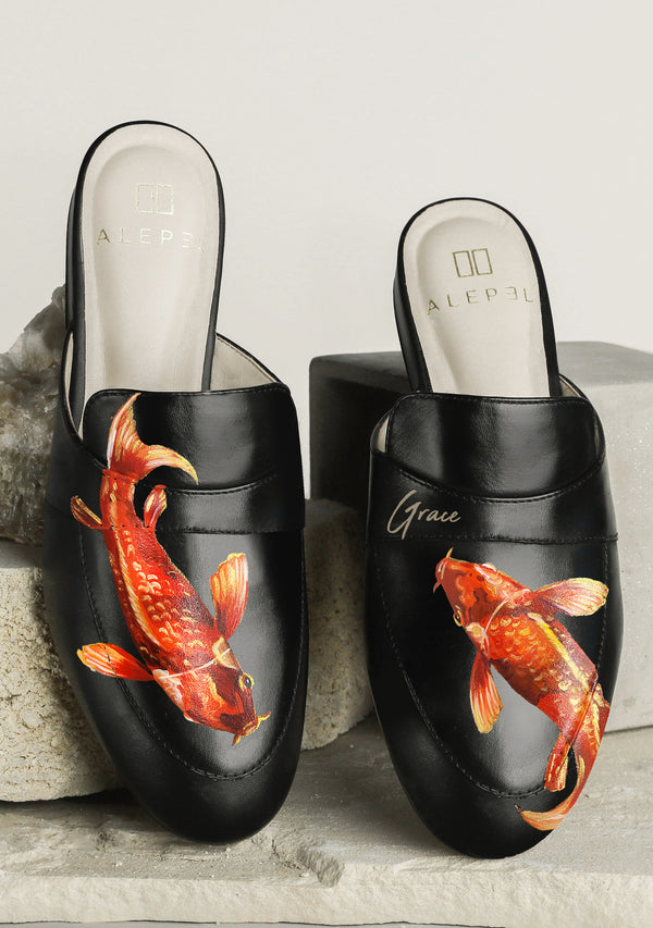 Koi Fish Black Mule