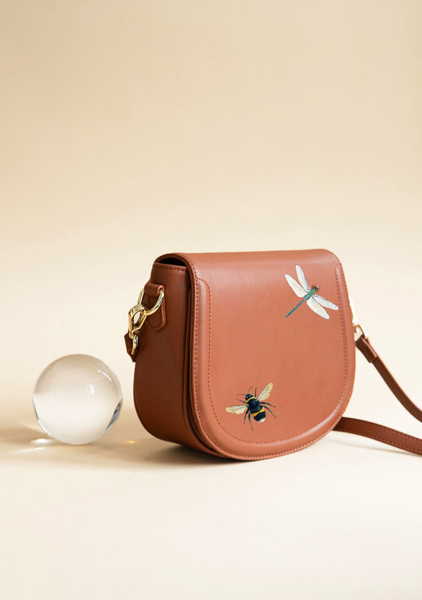 Dragonfly and Bee Brown Bag