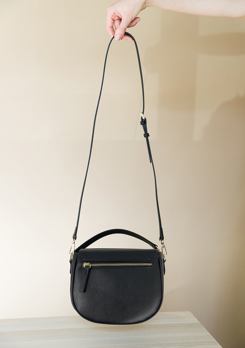 Black Leather Snake Bag