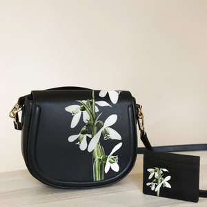 Snowdrop Black Bag + Cardholder Set