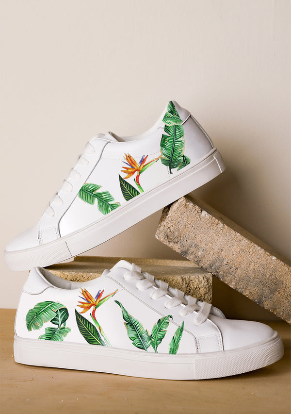 Bird of Paradise White Sneaker