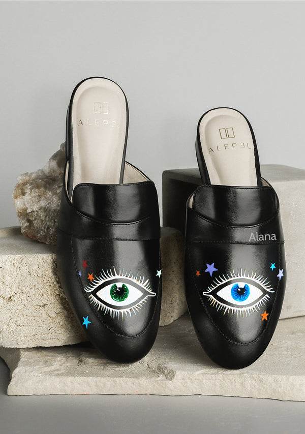 Eyes and Stars Black Mule