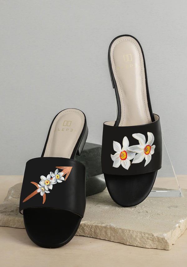 Arrow & Flower Black Slide