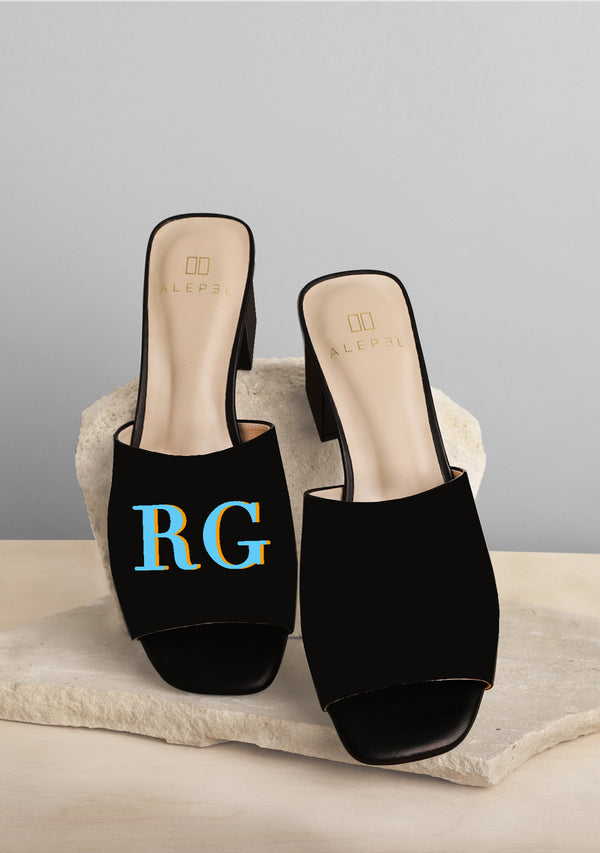 Monogram Black Heel
