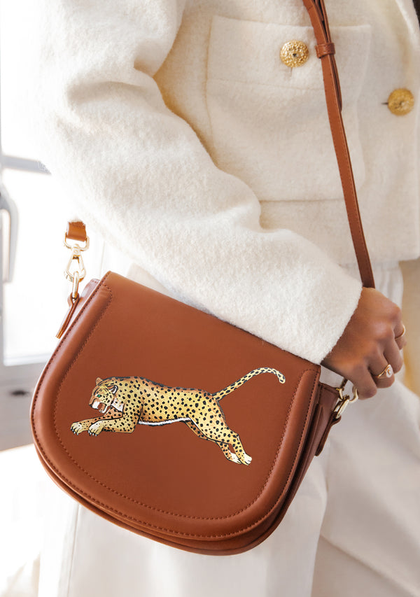 Leopard Brown Bag