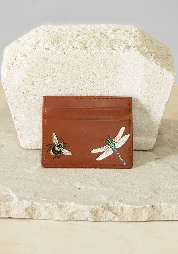 Dragon and Bee Brown Cardholder
