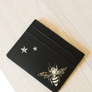 Queen Bees and Stars Black Cardholder
