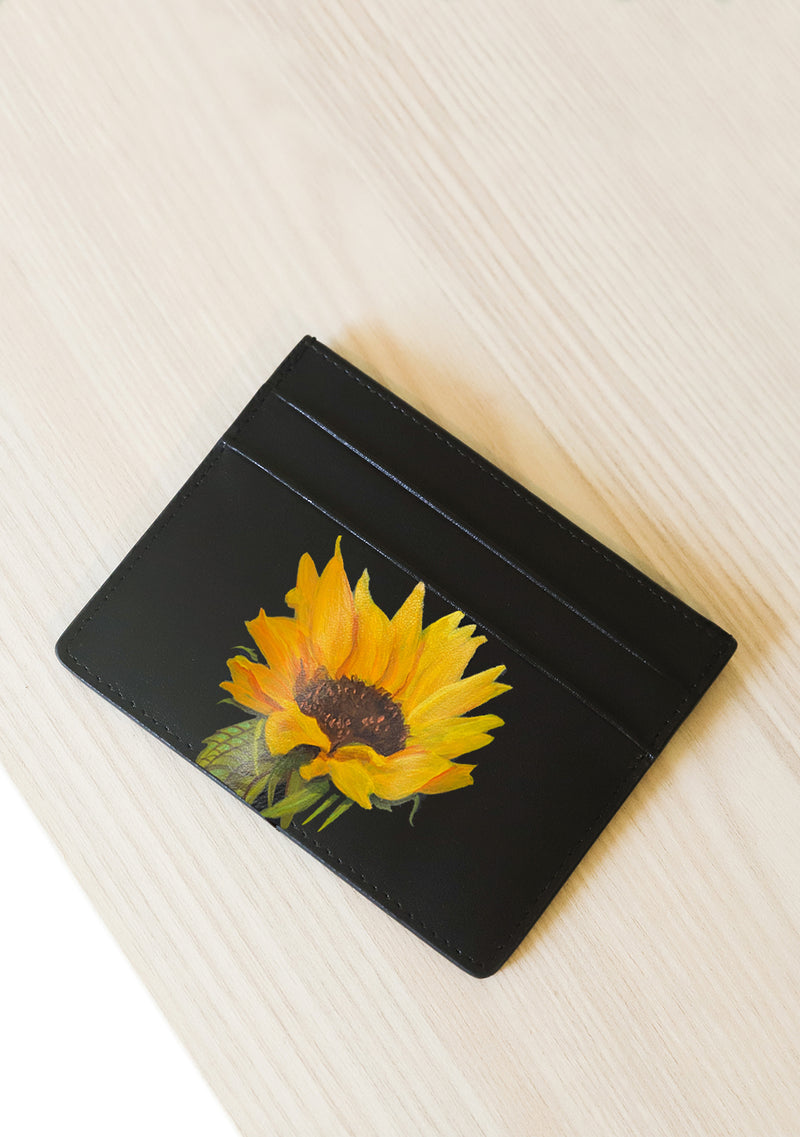 Bridal Bouquet Black Cardholder