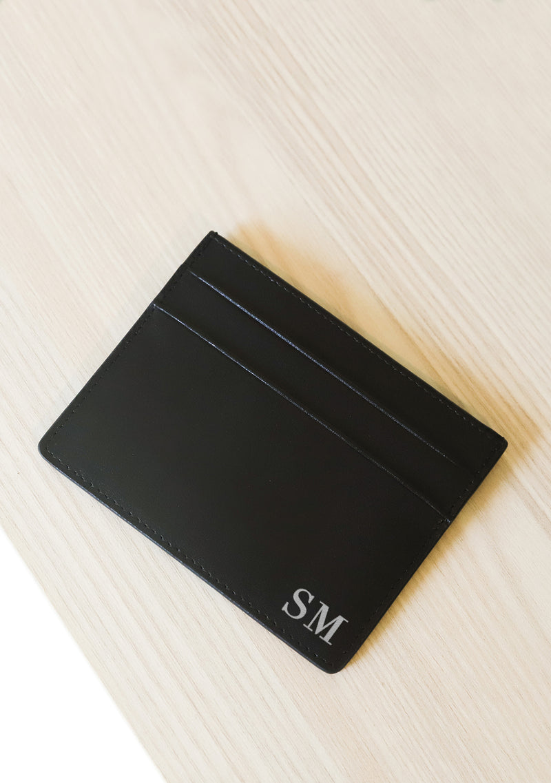 Shop Local Act Global Black Leather Cardholder