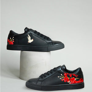 Gold Bird Black Sneaker