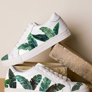 Green Palms White Sneaker